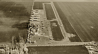 historical aerial photograph of Petaluma Sky Ranch airport, Petaluma, Sonoma County, California, 1960