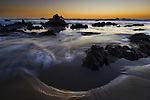 dusk at Cayucos State Beach, California