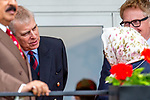 Day 3. Royal Windsor Horse Show. Windsor. Berkshire. UK. Endurance. HRH Prince Andrew. The Duke of York speaks to HRH Queen Elizabeth ll.  Hamad bin Isa Al Khalifa. King of Bahrain. 11/05/2018. ~ MANDATORY Credit Elli Birch/Sportinpictures - NO UNAUTHORISED USE - 07837 394578