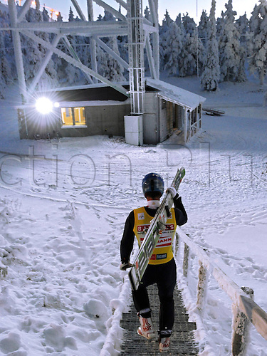 26.11.2010 Ski jumping FIS World Cup Nordic Opening Finland Kuusamo. Picture shows Wolfgang Loitzl AUT on the Way to Hill