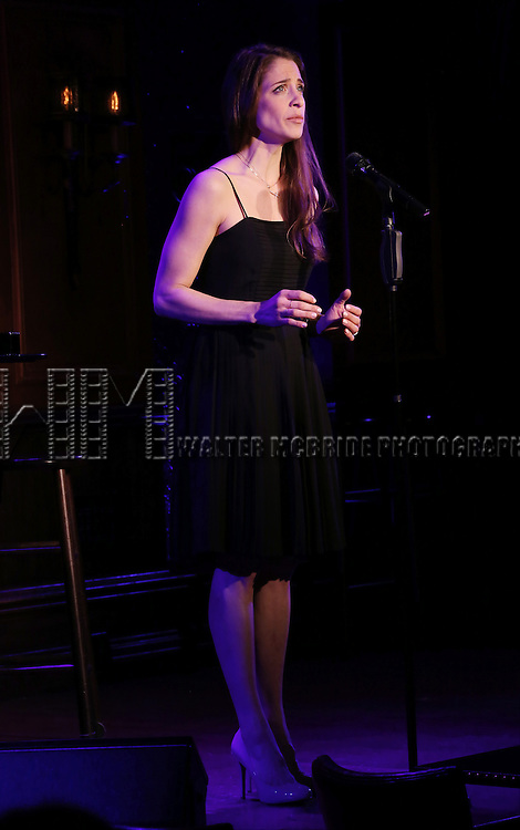 "Elena Shaddow perform A Special Press Preview of her upcoming show ""54 Below Swings Time and Again""  at 54 Below on April 4, 2014 in New York City."