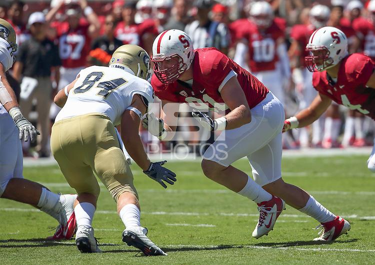 Stanford, CA; Saturday August 30, 2014: Football, Stanford vs UC Davis
