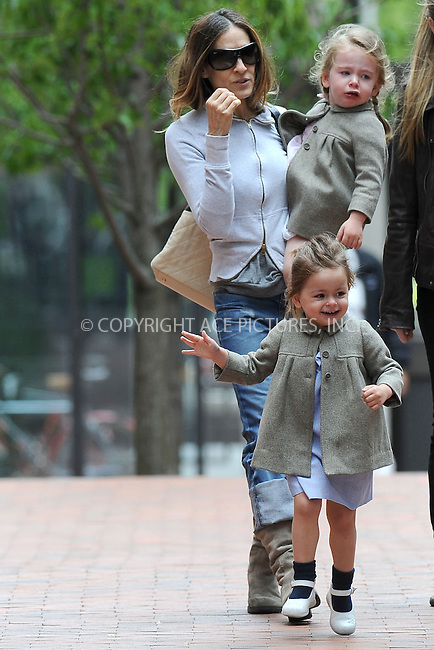 WWW.ACEPIXS.COM . . . . . .April 27, 2012...New York City....Sarah Jessica Parker, Marion Loretta Broderick and Tabitha Hodge Broderick leave school on April 27, 2012  in New York City ....Please byline: KRISTIN CALLAHAN - ACEPIXS.COM.. . . . . . ..Ace Pictures, Inc: ..tel: (212) 243 8787 or (646) 769 0430..e-mail: info@acepixs.com..web: http://www.acepixs.com .