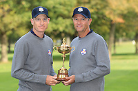 Jim Furyk and David Love III at The USA Team Picture for the Ryder Cup 2012, Medinah Country Club,Medinah, Illinois,USA.Picture: Fran Caffrey/www.Golffile.ie.