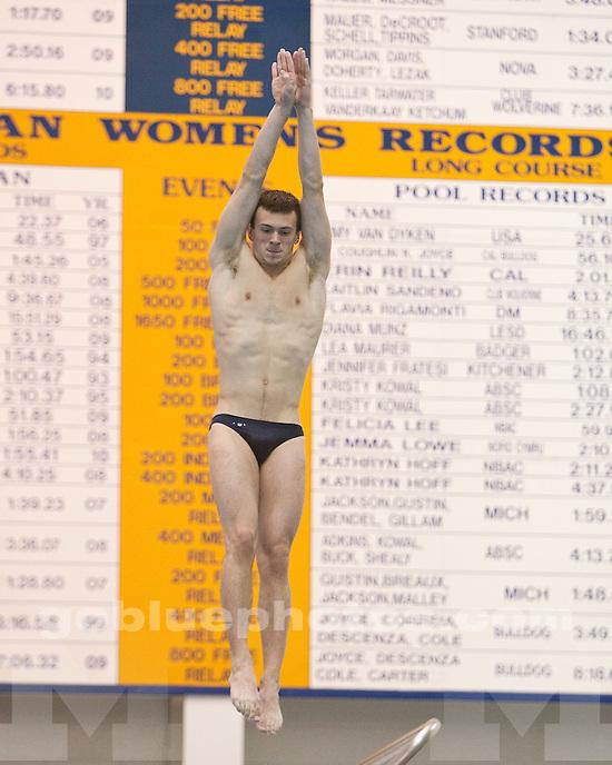 University of Michigan men's swimming and diving 134.5-108.5 victory over Purdue at Canham Natatorium in Ann Arbor, MI, on January 16, 2011.