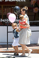 Jessica Alba took her family to a shopping at the posh kids store Bel Bambini in West Hollywood. Jessica, hubby Cash_Warren, Honor and Haven were spotted leaving the boutique with balloons and a huge gift basket. Los Angeles, California on 23.06.2012..Credit: Correa/face to face.. /MediaPunch Inc. ***FOR USA ONLY*** ***Online Only for USA Weekly Print Magazines*** / Mediapunchinc NORTEPHOTO.COM<br /> **SOLO*VENTA*EN*MEXICO**<br /> **CREDITO*OBLIGATORIO** <br /> *No*Venta*A*Terceros*<br /> *No*Sale*So*third*<br /> ** No Se Permite Hacer Archivo**