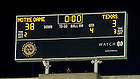 Sept. 5, 2015; Scoreboard after Notre Dame defeated Texas 38-3. (Photo by Matt Cashore)