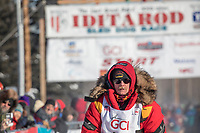 Mitch Seavey at the 2017 Iditarod sled dog race restart in Fairbanks, Alaska.