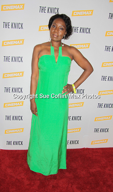 Maureen Tokeson-Martin at The Knick - on Cinemax - premiering Aug 8, 2014 - starring Andre Holland, Leon Addison Brown, David Fierro and more on July 23, 2014 at NY Academy of Medicine , New York City, New York.  (Photo by Sue Coflin/Max Photos)