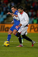 19.01.2013 SPAIN -  La Liga 12/13 Matchday 20th  match played between Getafe C.F. vs Sevilla Futbol Club (1-1) at Alfonso Perez stadium. The picture show Jose Antonio Reyes Calderon (Spanish Forward of Sevilla F.C.)
