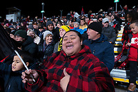 11th July 2020; Christchurch, New Zealand;  Fans show their support. Crusaders versus Blues in the Super Rugby Aotearoa. Orangetheory Stadium, Christchurch,