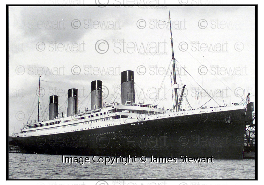 (date)                                       Copyright Pic : James Stewart .Ref :                           .File Name : stewart04-titanic                       .THE TITANIC BERTHED AT SOUTHAMPTON BEFORE HER MAIDEN VOYAGE...........(see copy from George Mair / Tim Bugler).....Payments to :-.James Stewart Photo Agency, Stewart House, Stewart Road, Falkirk. FK2 7AS      Vat Reg No. 607 6932 25.Office : 01324 630007        Mobile : 0421 416997.E-mail : jim@jspa.co.uk.           : jim@jamesstewart.co.uk.If you require further information then contact Jim Stewart on any of the numbers above.........