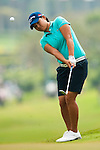 Yani Tseng of Taiwan plays her approach shoot on the 1st hole during day one of the Sunrise LPGA Taiwan Championship 2011 at the Sunrise Golf & Country Club on 20 October 2011 in Tao Yuan, Taiwan. Photo by Victor Fraile / The Power of Sport Images