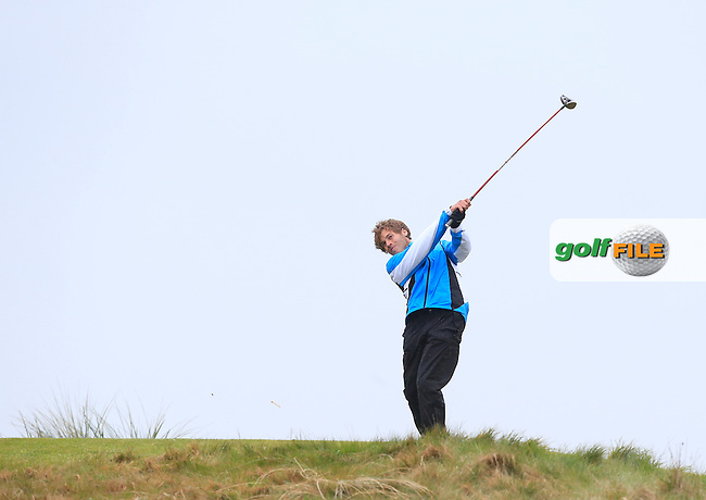Grant Kelton Price (USA) tees off the 11th tee during Saturday's Round 2 of the 2015 Lytham Trophy held at Lytham &amp; St.Annes Golf Club. 2nd May 2015.<br /> Picture: Eoin Clarke www.golffile.ie
