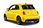 Car pictures of rear three quarter view of 2017 Fiat 500 Abarth 3 Door Hatchback Angular Rear