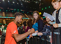 Rotterdam, The Netherlands, 17 Februari 2019, ABNAMRO World Tennis Tournament, Ahoy,  Winner Gael Monfils (FRA) signing autographs<br /> Photo: www.tennisimages.com/Henk Koster
