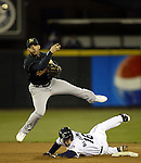 Oakland Athletics' Seattle Mariners' in the inning of Major League baseball action at Safeco Field Saturday, April 8, 2006 in Seattle. (AP PHOTO/Jim Bryant)