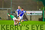 Templenoe's Danny Cahalane and Curraha's Sean O'Hanrahan in the AIB GAA Football All Ireland Junior Club Championship.