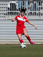 Diana Wiegel. The Washington Spirit defeated the North Carolina Tar Heels in a preseason exhibition, 2-0, at the Maryland SoccerPlex in Boyds, MD.