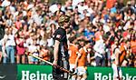 BLOEMENDAAL   - Hockey -  2e wedstrijd halve finale Play Offs heren. Bloemendaal-Amsterdam (2-2) . A'dam wint shoot outs. Klaas Vermeulen (A'dam).  COPYRIGHT KOEN SUYK
