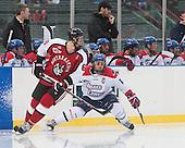 Mike Gunn (NU - 6), Josh Holmstrom (UML - 12) - The Northeastern University Huskies defeated the University of Massachusetts Lowell River Hawks 4-1 (EN) on Saturday, January 11, 2014, at Fenway Park in Boston, Massachusetts.
