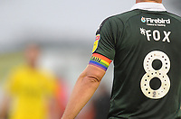 Plymouth Argyle's David Fox wears a rainbow coloured armband in support of the Rainbow Laces movement<br /> <br /> Photographer Kevin Barnes/CameraSport<br /> <br /> The EFL Sky Bet League One - Plymouth Argyle v Fleetwood Town - Saturday 24th November 2018 - Home Park - Plymouth<br /> <br /> World Copyright © 2018 CameraSport. All rights reserved. 43 Linden Ave. Countesthorpe. Leicester. England. LE8 5PG - Tel: +44 (0) 116 277 4147 - admin@camerasport.com - www.camerasport.com