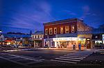 Little Art Theater, Yellow Springs at dusk