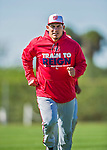 25 February 2016: Washington Nationals catcher Wilson Ramos warms up during the first full squad Spring Training workout at Space Coast Stadium in Viera, Florida. Mandatory Credit: Ed Wolfstein Photo *** RAW (NEF) Image File Available ***
