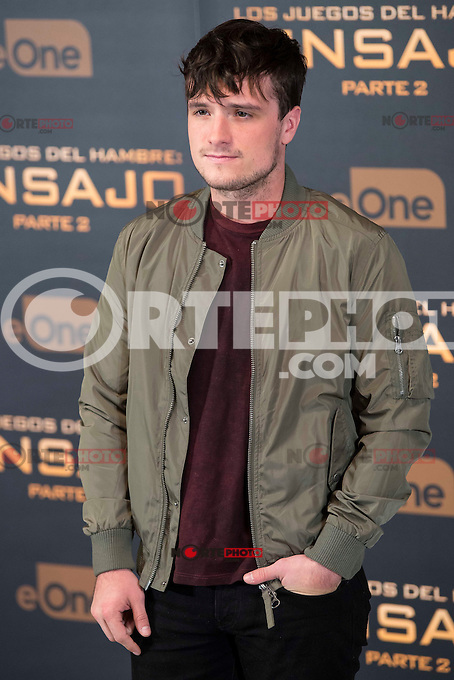 Actor Josh Hutcherson during the presentation of film &quot;The Hunger Games: Sinsajo Part 2&quot; in Madrid, Novermber 10, 2015.<br /> (ALTERPHOTOS/BorjaB.Hojas)
