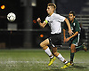 Nick Tagios #9 of Wheatley chases after a loose ball during the first half of the Nassau County varsity boys soccer Class B final against Carle Place at Hofstra University on Wednesday, Oct. 25, 2017. He scored twice in the second half to lead the Wildcats to a 3-0 win.