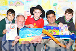 Danut Cirpaci, Robert Lievre, Dean Cronin, Cathal Atmeanu and Kuba Milarek all Killarney at the Childrens Art exhibition in Killarney outlet centre on Friday   Copyright Kerry's Eye 2008