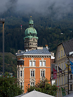 Stadtturm in Innsbruck, Tirol, &Ouml;sterreich, Europa<br /> citytower, Herzog-Friedrich St. , Innsbruck, Tyrol, Austria, Europe