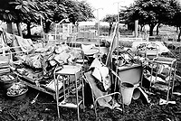 Mozambique. Province of Gaza. Chokwe. The Limpopo river has flooded the whole town and destroyed most of the hospital equipment. © 2000 Didier Ruef