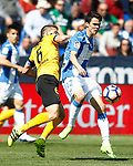CD Leganes' Erik Moran (r) and Malaga CF's Ignacio Camacho during La Liga match. February 25,2017. (ALTERPHOTOS/Acero)