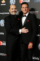 Actor Miguel Bose and magician Lari during Barcelona 5th AIDS Ceremony. November 24,2014.(ALTERPHOTOS/Acero) /NortePhoto<br />
