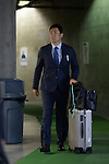 Masahiro Tanaka (Yankees),<br /> MARCH 29, 2014 - MLB :<br /> Masahiro Tanaka of the New York Yankees leaves the team's spring training facility after the New York Yankees spring training baseball camp in Tampa, Florida, United States. (Photo by AFLO)