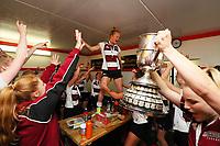 The North Harbour women's tea celebrate . National Hockey League Finals Day action, National Hockey Stadium, Wellington, New Zealand. Sunday 23 September 2018. Photo: Simon Watts/www.bwmedia.co.nz/Hockey NZ