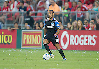 27 August 2011: San Jose Earthquakes defender Justin Morrow #15 in action during a game between the San Jose Earthquakes and Toronto FC at BMO Field in Toronto..The game ended in a 1-1 draw.