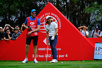 Tommy Fleetwood (ENG) on the 3rd tee  during the 1st round at the WGC HSBC Champions 2018, Sheshan Golf Club, Shanghai, China. 25/10/2018.<br /> Picture Fran Caffrey / Golffile.ie<br /> <br /> All photo usage must carry mandatory copyright credit (&copy; Golffile | Fran Caffrey)