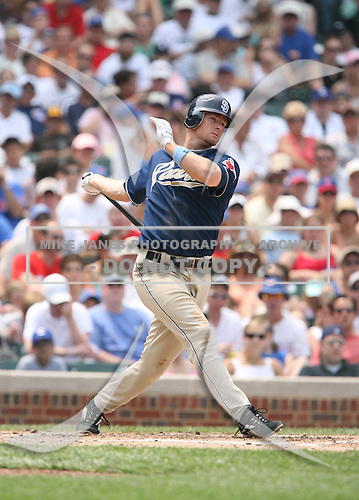 Rob Bowen of the San Diego Padres vs. the Chicago Cubs: June 18th, 2007 at Wrigley Field in Chicago, IL.  Photo copyright Mike Janes Photography 2007.