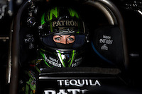 Sept. 1, 2013; Clermont, IN, USA: NHRA funny car driver Alexis DeJoria during qualifying for the US Nationals at Lucas Oil Raceway. Mandatory Credit: Mark J. Rebilas-