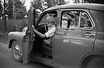 "Юный актёр Николай Бурляев за рулём автомобиля «Победа». 1961–1962 гг. / Young actor Nikolai Burlyaev at the wheel of the car ""Victory"". 1961-1962."