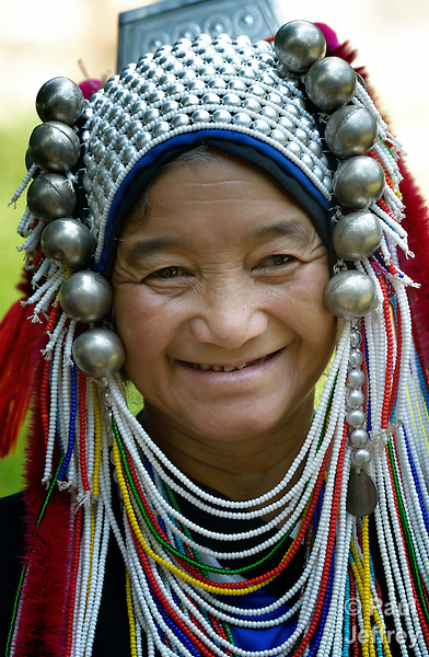 A traditionally dressed woman in Buyer, a small village in northern Thailand populated by indigenous hill tribe people.