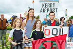 Alex, Laura Jane, Dylan and Nealan at the Oil Drilling protest at Kerry Airport on Sunday