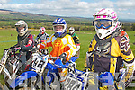 GEARING UP: Getting ready for take-off at the practice run for the Munster Quad and Bike Championships in Milltown on Monday were l-r: Chris Moriarty, Keith Sharma and John Barry.   Copyright Kerry's Eye 2008