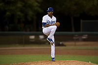AZL Dodgers relief pitcher Jose Hernandez (47) delivers a pitch during an Arizona League game against the AZL White Sox at Camelback Ranch on July 3, 2018 in Glendale, Arizona. The AZL Dodgers defeated the AZL White Sox by a score of 10-5. (Zachary Lucy/Four Seam Images)