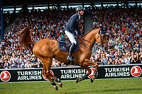 GBR-Ben Maher rides Explosion W during the Rolex Grand Prix of Aachen - Jump Off. 2019 GER-CHIO Aachen Weltfest des Pferdesports. Sunday 21 July. Copyright Photo: Libby Law Photography