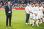 Real Madrid's Zinedine Zidane during XXXVIII Santiago Bernabeu Trophy at Santiago Bernabeu Stadium in Madrid, Spain August 23, 2017. (ALTERPHOTOS/Borja B.Hojas)