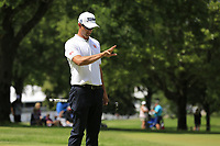 Adam Scott (AUS) lines up his putt on the 10th green during Saturday's Round 3 of the WGC Bridgestone Invitational 2017 held at Firestone Country Club, Akron, USA. 5th August 2017.<br /> Picture: Eoin Clarke | Golffile<br /> <br /> <br /> All photos usage must carry mandatory copyright credit (&copy; Golffile | Eoin Clarke)
