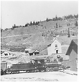Engineer's-side view of D&amp;RG #262 at Kokomo depot on the Fremont Pass line to Leadville.<br /> D&amp;RG  Kokomo, CO